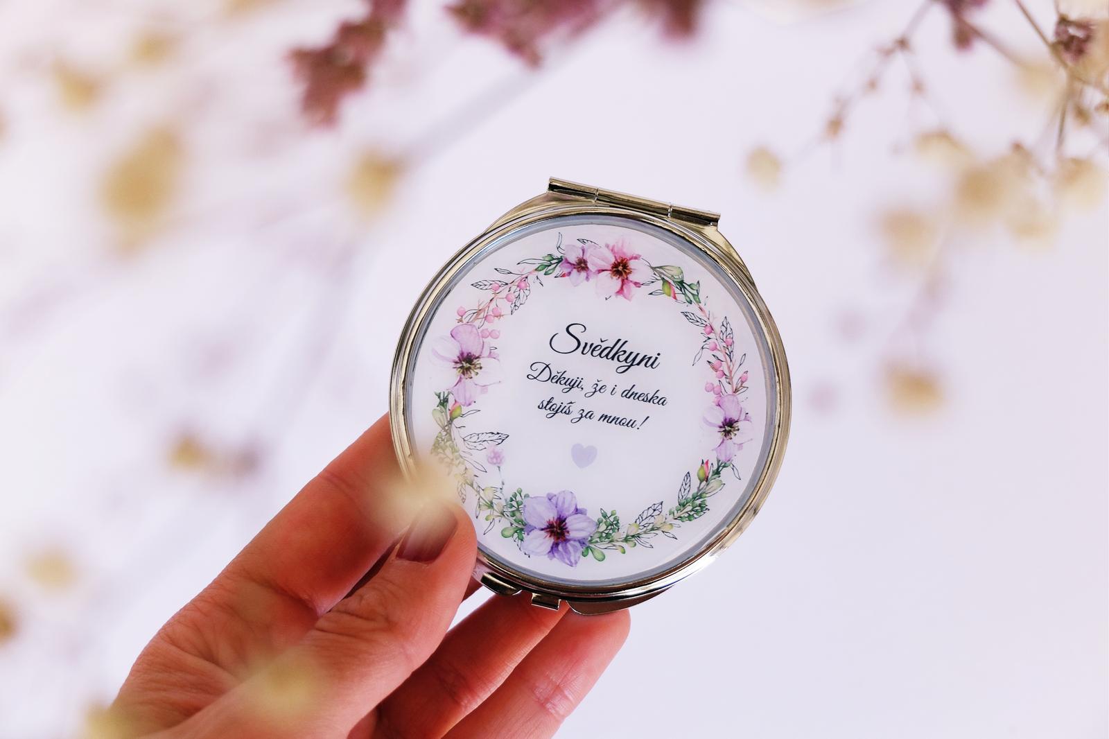Svatební zrcátko na přání - Obrázek č. 1
