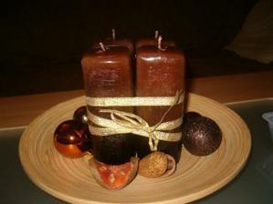 Adventní svíce na konferáku, můj výrobek...