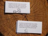 Kartičky - Žádost o finanční dary,
