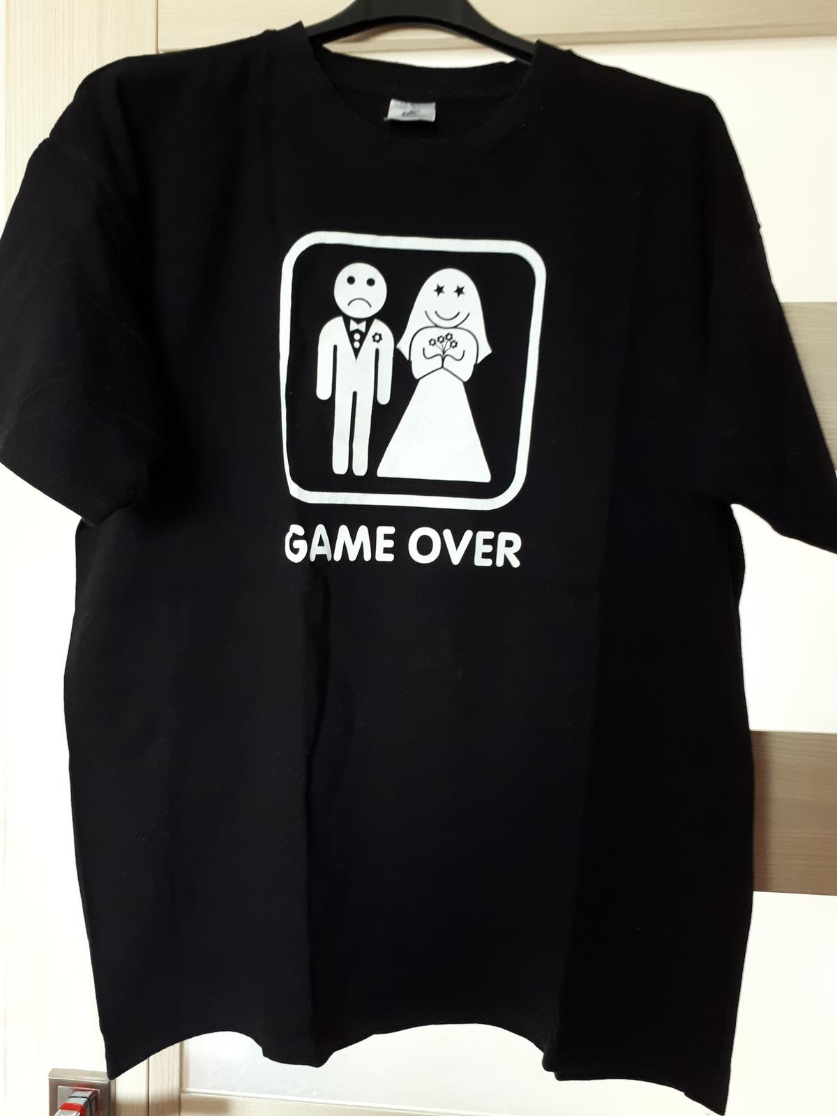 Pánske tričko GAME OVER  - Obrázok č. 1