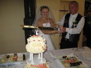 Krájíme svatební dort :o)