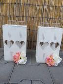 Svícny/vázy s kytičkami,