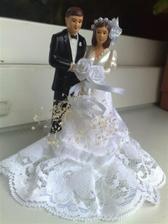 """vítězné """"sousoší"""" na svatební dort :)"""
