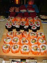 """takhle dělám třeba sushi, moje zamilované jídlo; o něm uvažuji jako o možnosti během odpoledního """"slavení"""""""