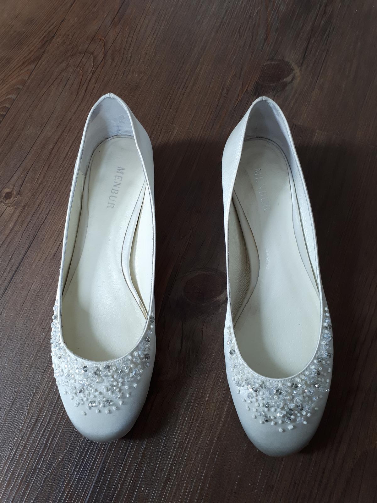 Svatební boty - balerinky vel. 38 (resp. 39) - Obrázek č. 1