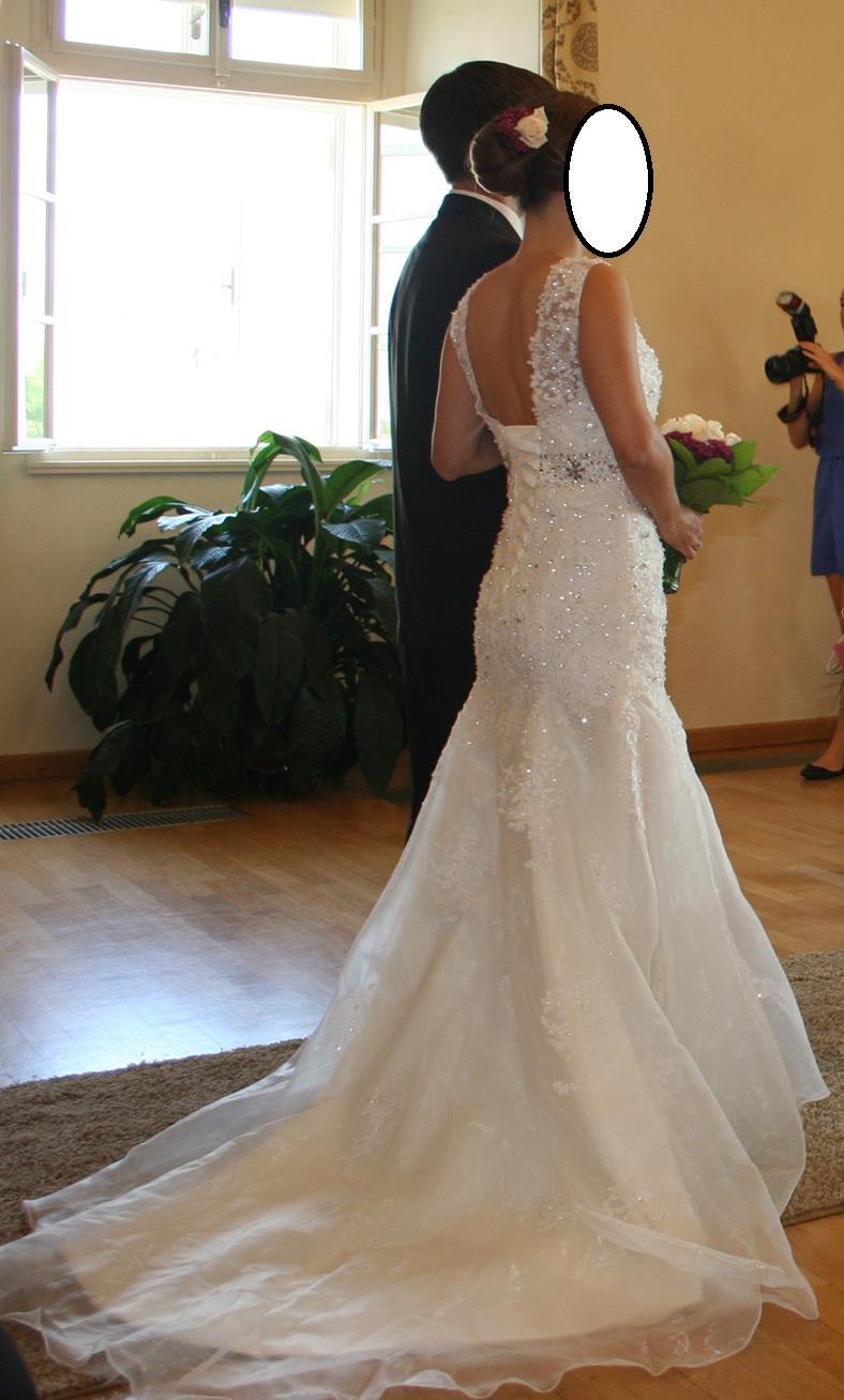 Svatební šaty - slonová kost, vel. 38 - Obrázek č. 2