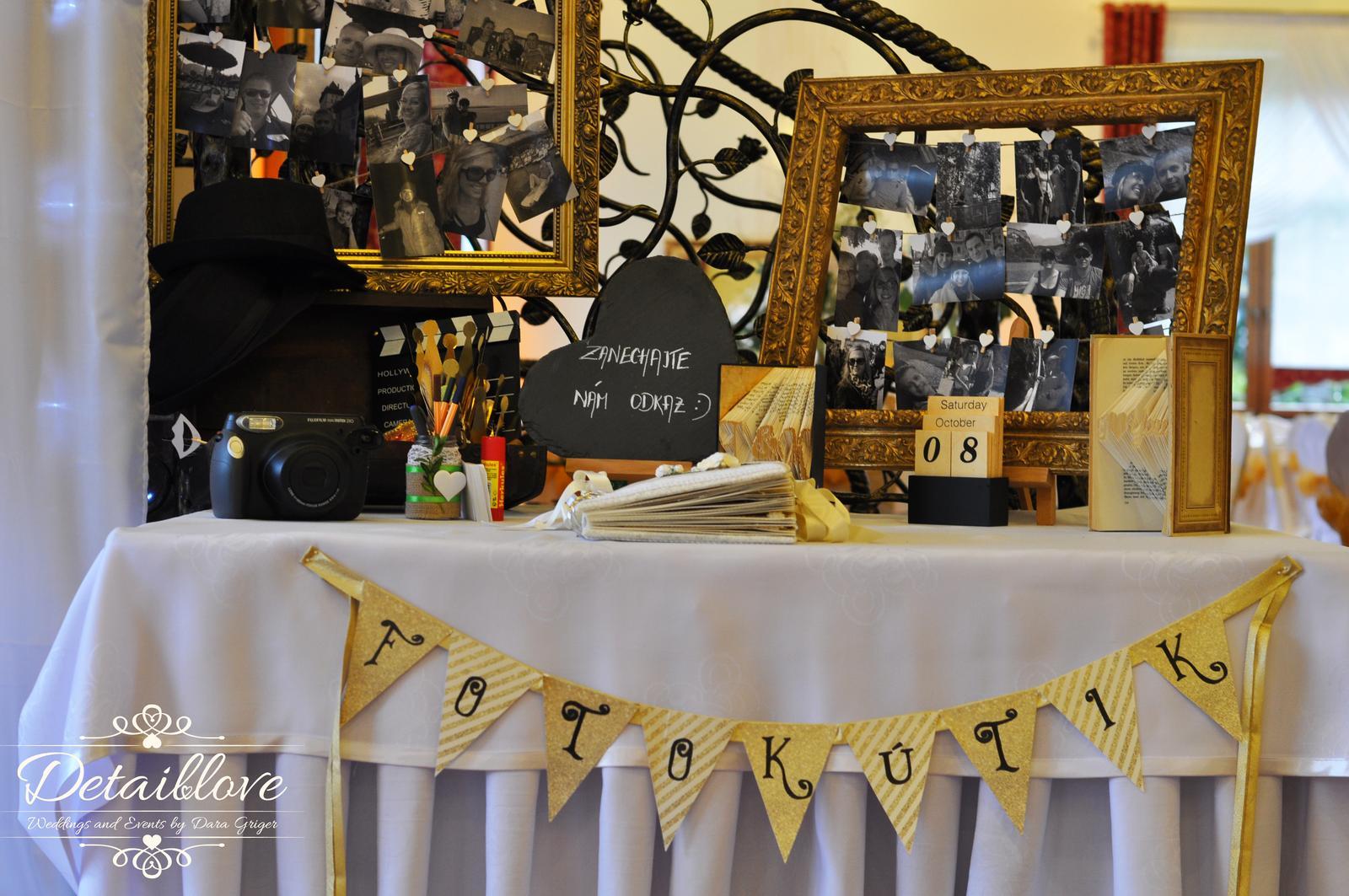 Fotokútik a fotostena - Originálne zdobený fotokútik a podsvietená fotostena - realizácia a dekorácia v priestoroch reštaurácie Hučavy - svadobné štúdio Detaillove. Neváhajte nás kontaktovať na : detaillove.wedding@gmail.com