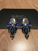 Helena Dia náušnice handmade - modré,