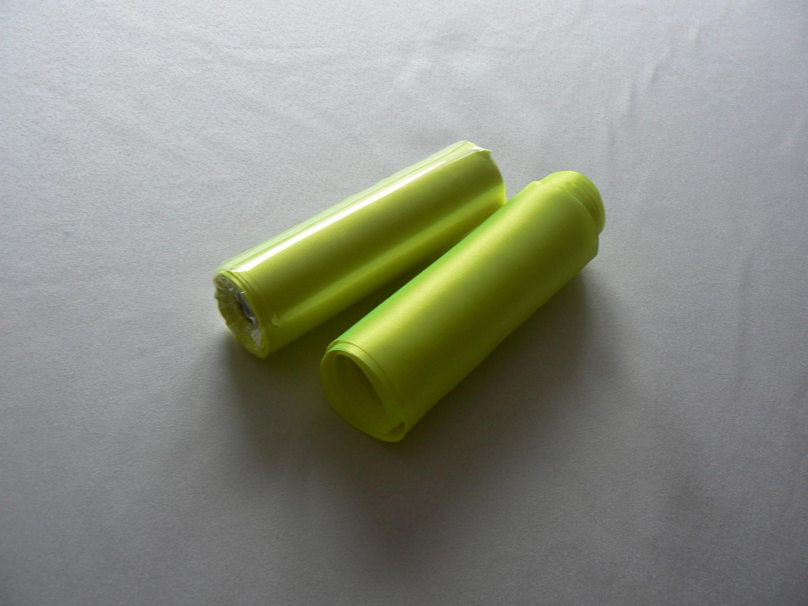 Saténová stuha zelenožltá - Obrázok č. 2