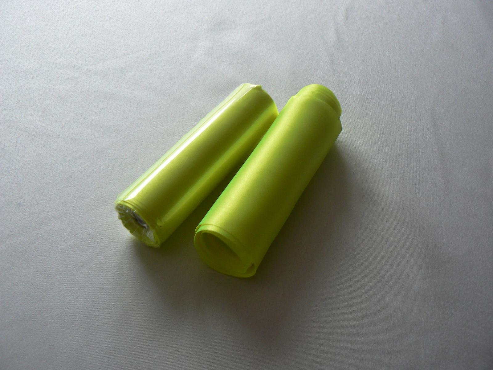 saténová stuha výrazná zelenožltá - Obrázok č. 1
