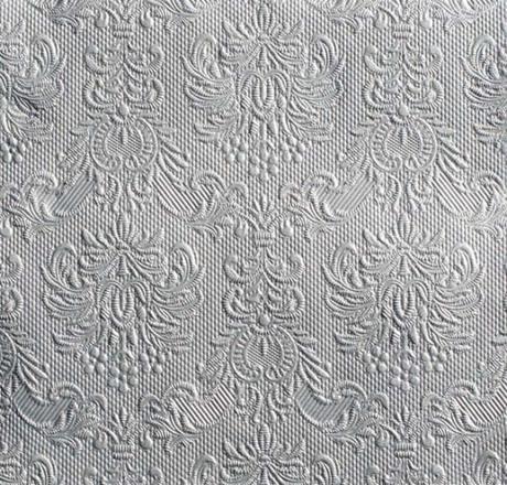Servítky reliéfne strieborné 33x33cm - Obrázok č. 1