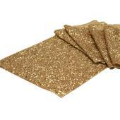 Glitterové štóly - zlatá,