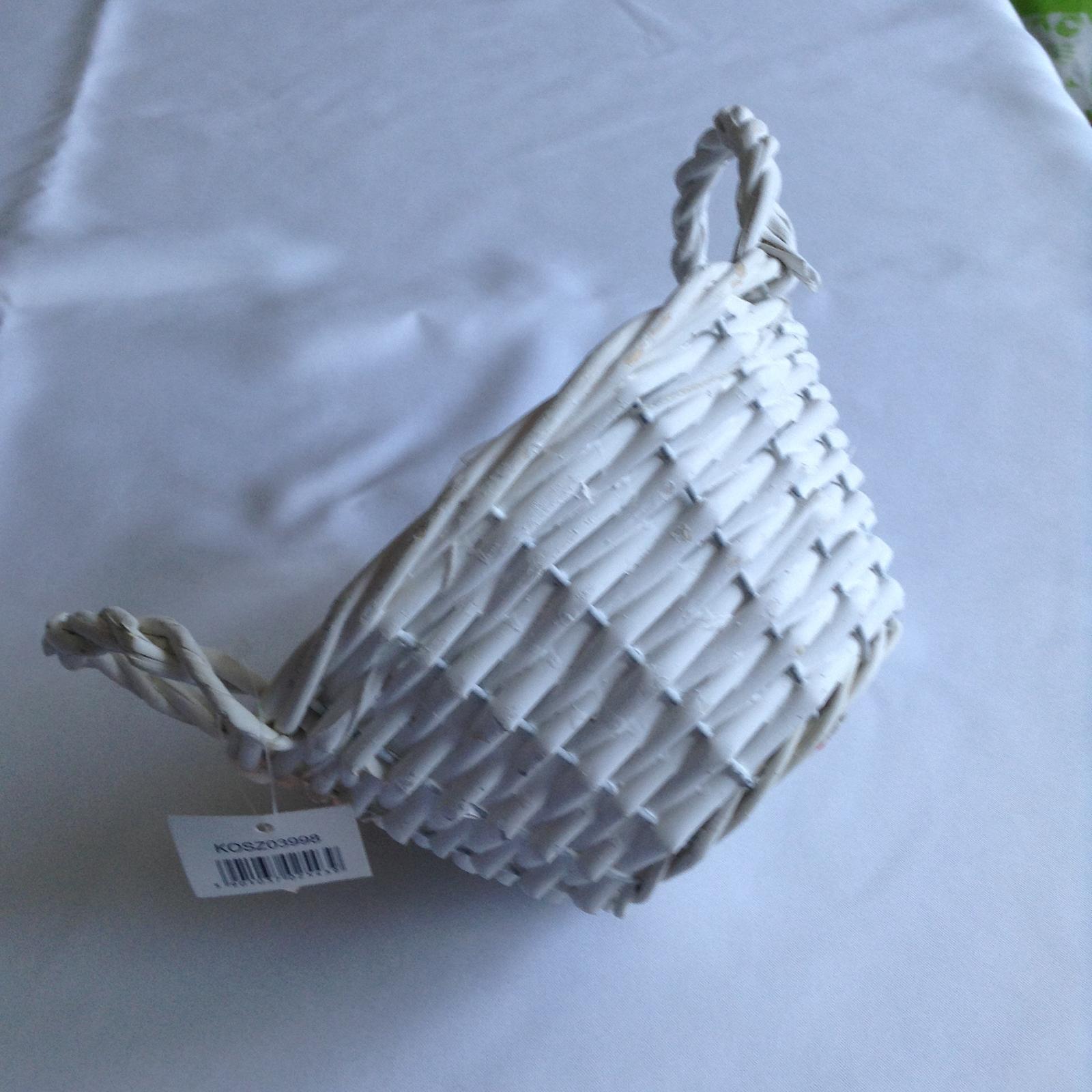 Prútený košík biely - Obrázok č. 1