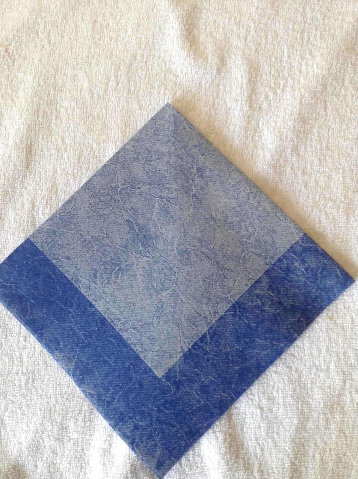 Servítky modré 40 x 40 - Obrázok č. 2