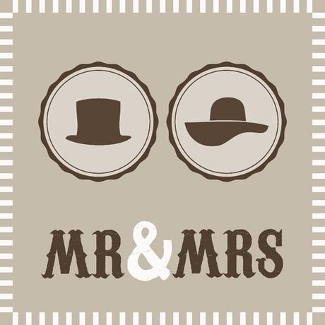 Servítky Mr and Mrs  - Obrázok č. 1