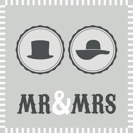 Servítky Mr and Mrs  - Obrázok č. 2