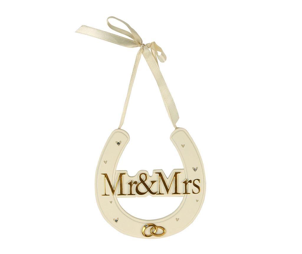 Závesná dekorácia Mr. & Mrs. - Obrázok č. 1