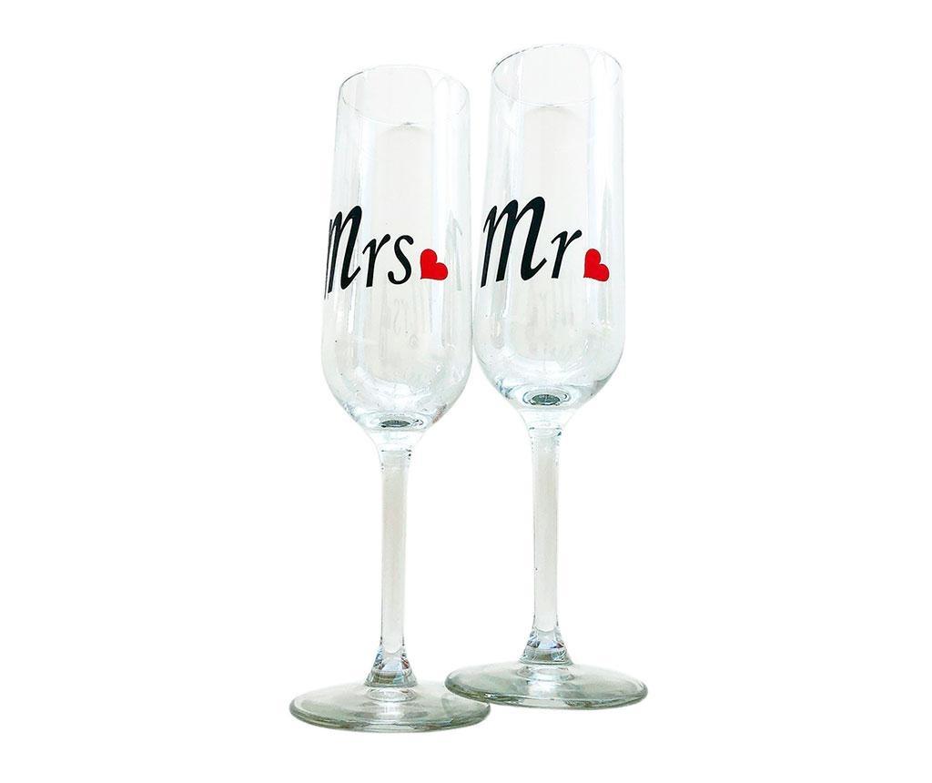 Sada 2 pohárov  Mr. and Mrs. 150 ml - Obrázok č. 1