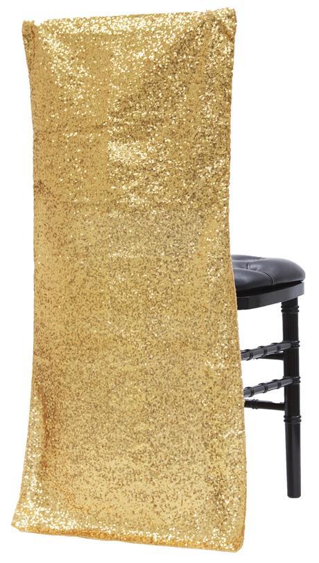 Návleky na stoličky - zlaté - Obrázok č. 1