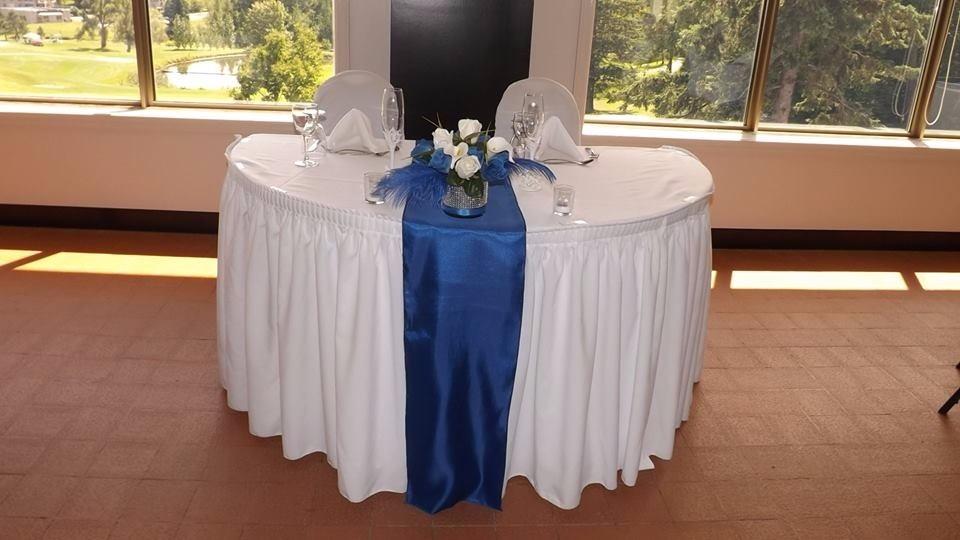 Saténové štóly na stôl šampanská - prenájom - Obrázok č. 4