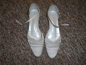 svatební boty saténové s nízkým podpatkem, 39