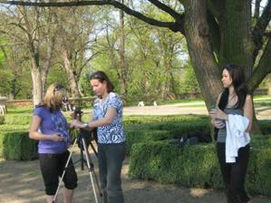 příprava na velké focení v zámeckém parku :o)
