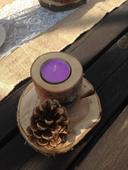 dřevěné svícínky ,