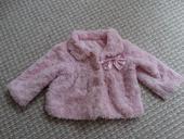 Světle růžový kabátek / kožíšek Earlydays vel.6-9 , 74