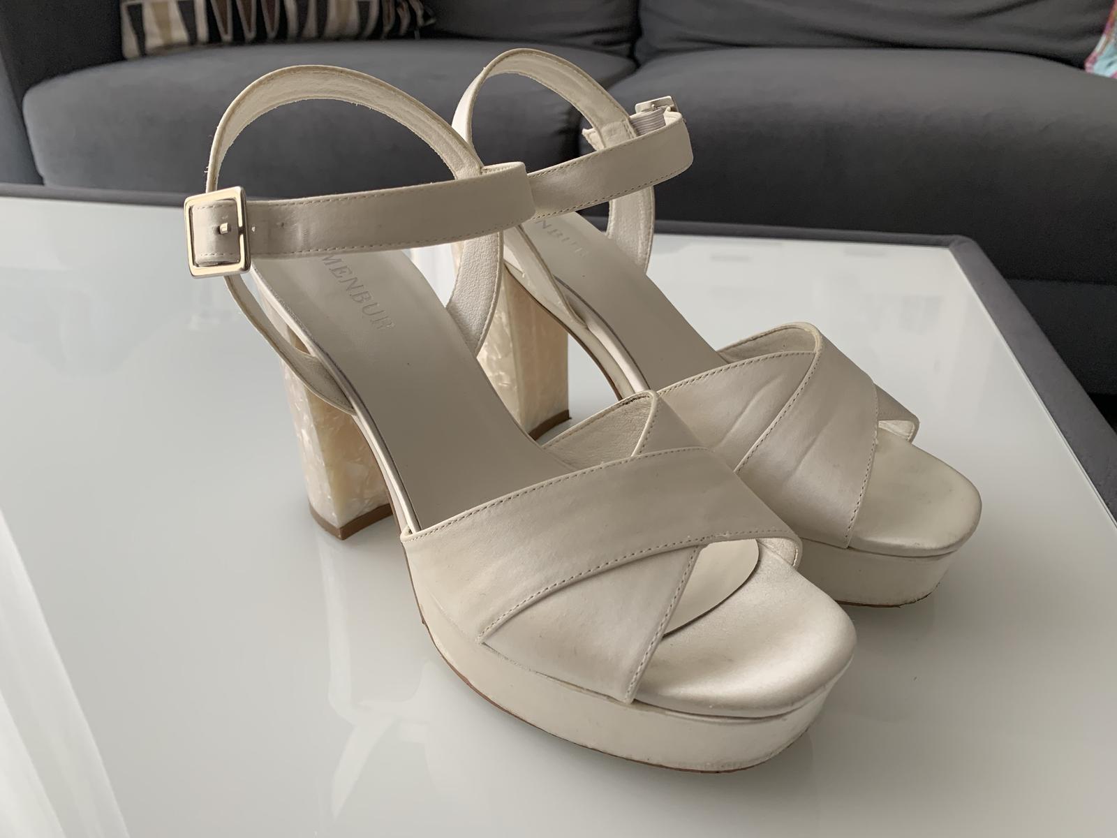 Svatební boty Menbur velikost 38 - Obrázek č. 3