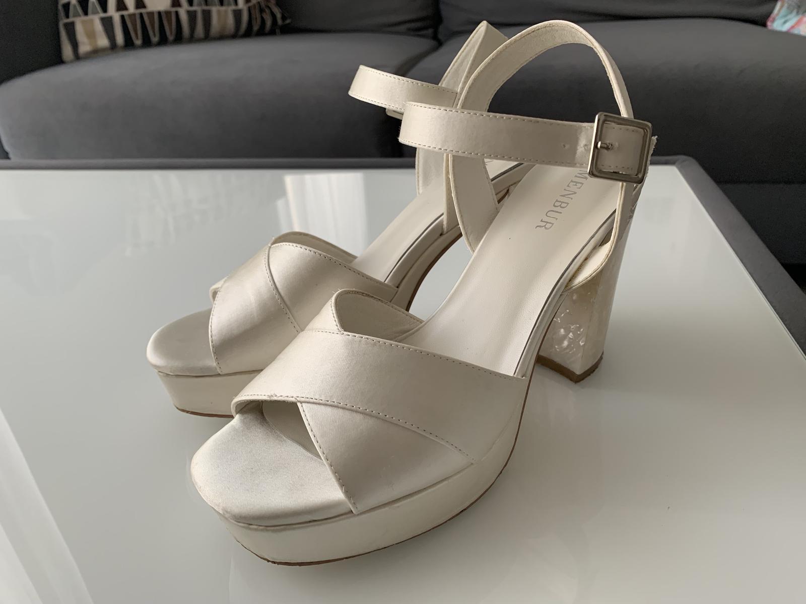Svatební boty Menbur velikost 38 - Obrázek č. 1