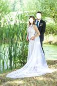 Bílé svatební šaty - boho - krajka - satén, 38