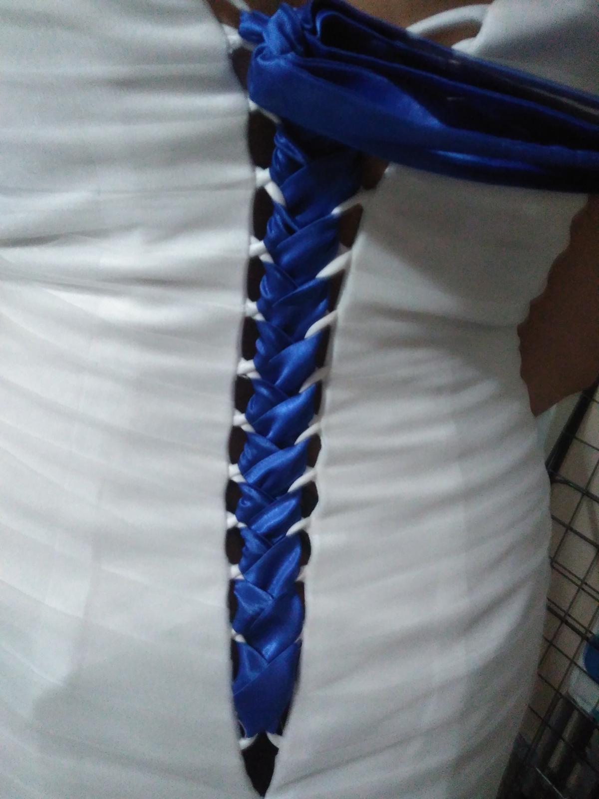 Stuha do šatů v barvě royal blue - Obrázek č. 2