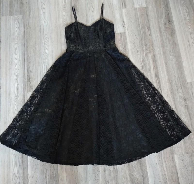 Černé dlouhé krajkové šaty. - Obrázek č. 1