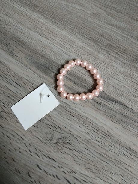 Náramek z perel, starorůžové. - Obrázek č. 1