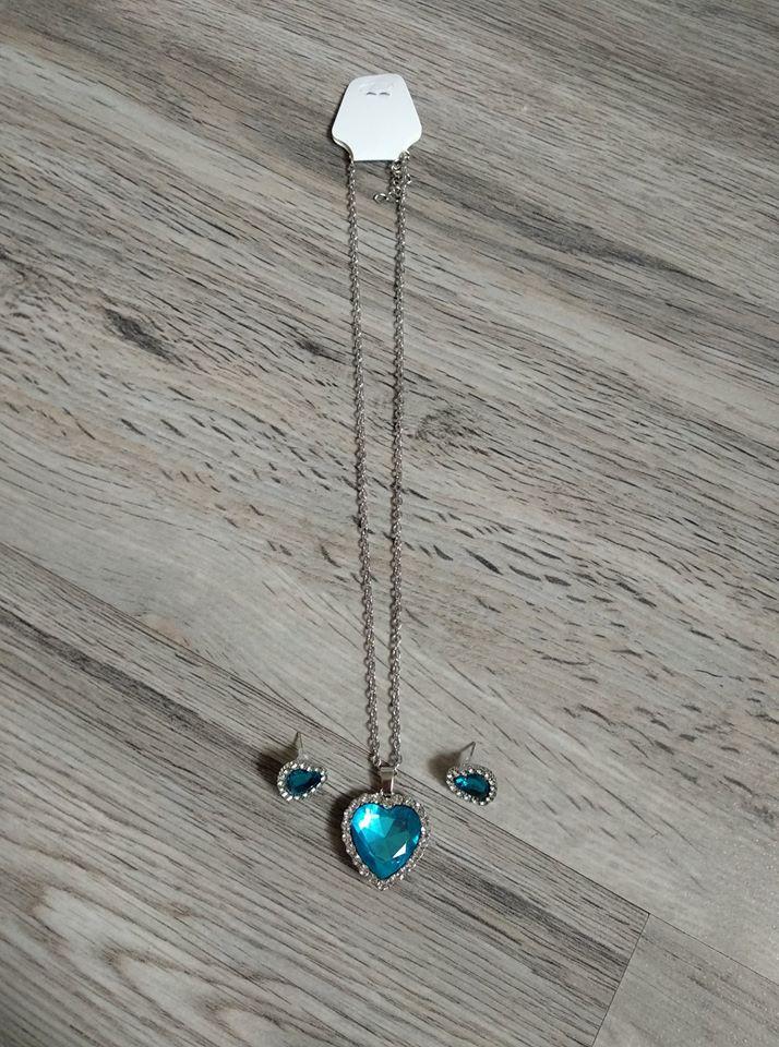Set náušnic s náhrdelníkem - srdce. - Obrázek č. 3