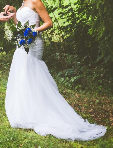 Svatební šaty, vhodné i pro těhotné - Obrázek č. 1