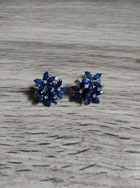 Náušnice - kytičky - modré. - Obrázek č. 1