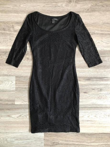 🌸Černé krajkové šaty, vel. XXS-XS🌸 - Obrázek č. 1