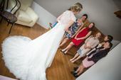 Krajkové svatební šaty Pronovias - La Sposa, 34, 36