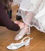 Ivory svatební sandály bez podpatků, Tamaris, 39