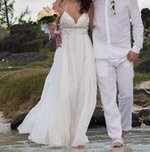 Svatební šaty s perličkami, 38