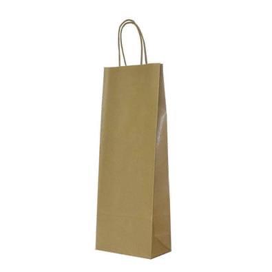 Papierove tasky na vino s krutenym papierovym uchom, 61ks - 0,20€/kus - Obrázok č. 1
