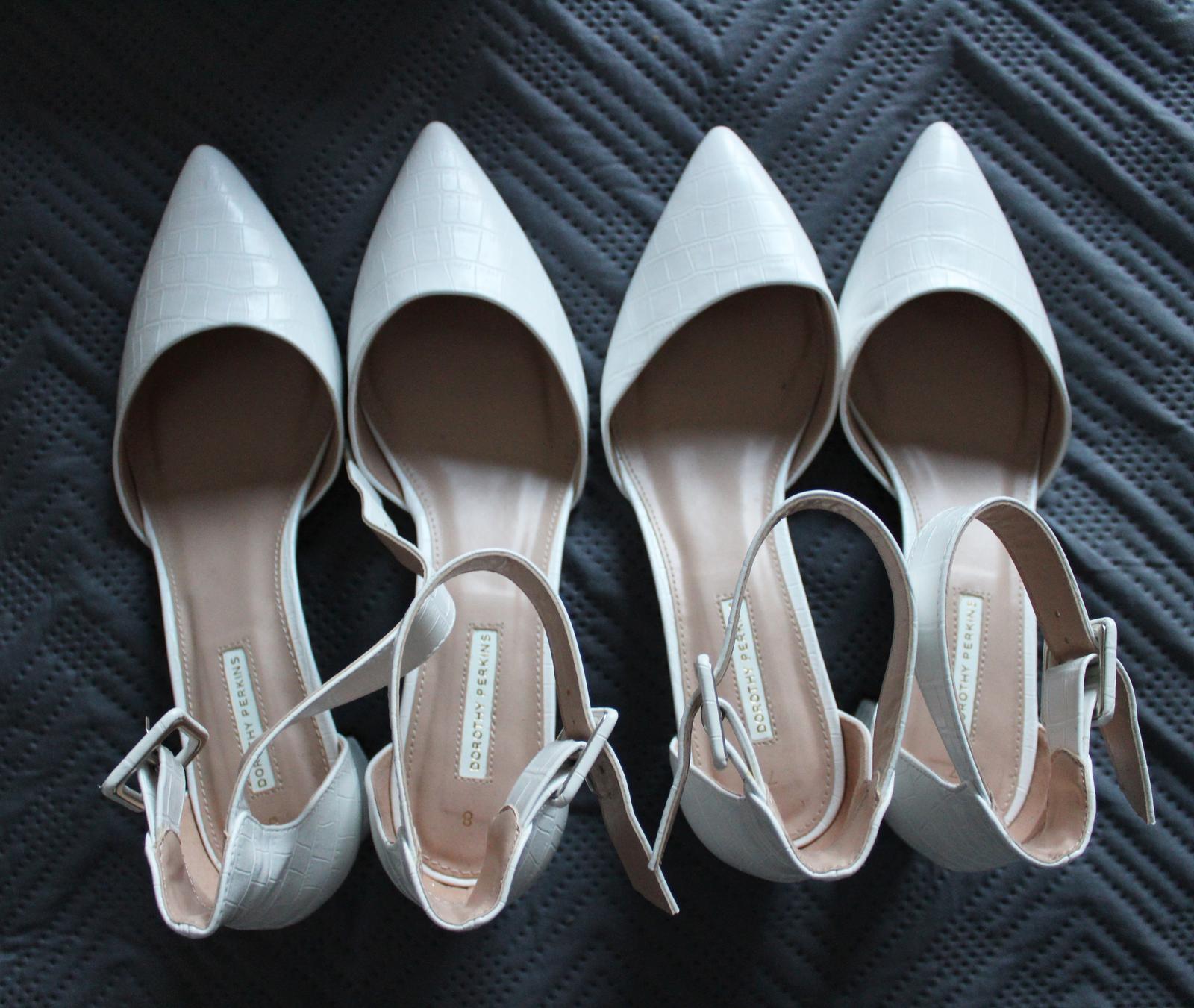 Svadobné topánky Dorothy Perkins veľkosť 40 a 41 - Obrázok č. 1