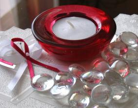 červenobílá kombinace na svatební stůl...