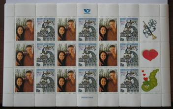naše známky na obálky s oznámením...