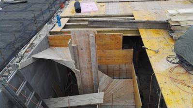 Salovanie schodov z technickej do pivnice