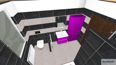 Finální varianta koupelny - objednáno