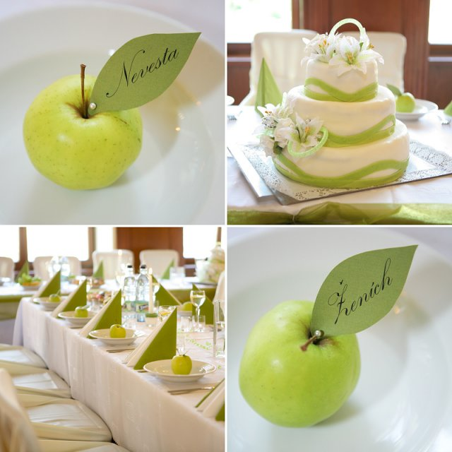 Pripravicky co uz mame - menovky chcem na zelenych jablckach :)