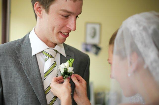 M+I - pěkná kravata, ale nakonec jsme sehnali ještě hezčí :-)