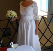 Biele svadobne saty vintage, 38